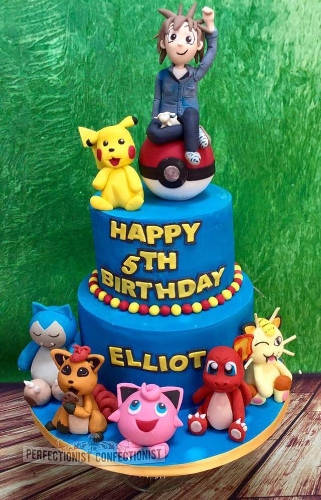 Incredible Elliot Pokemon Birthday Cake Cake By Niamh Geraghty Cakesdecor Funny Birthday Cards Online Alyptdamsfinfo
