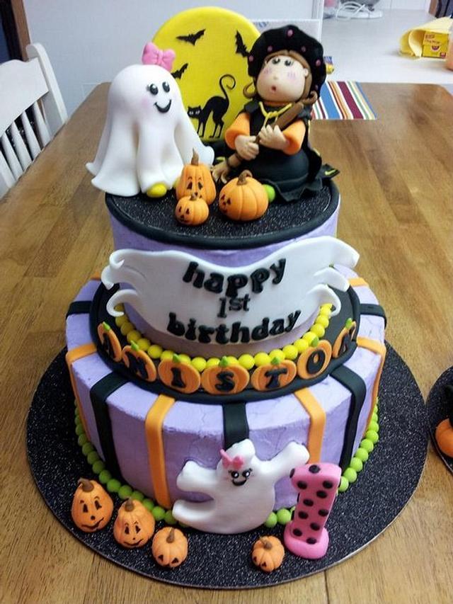 Halloween 1st Birthday w/Smash Cake