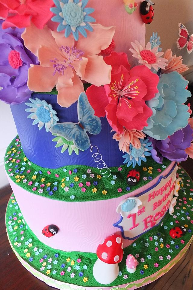 Fairy Princess and the Enchanted Forest Cake