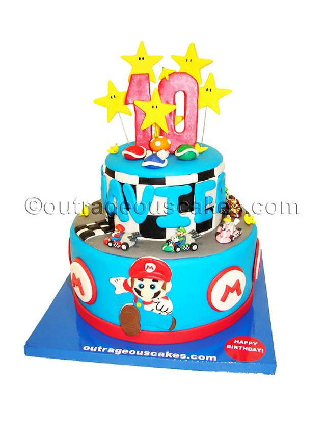 Pleasant Mario Kart Cake Cake By Outrageous Cakes Tampa Bakery Cakesdecor Funny Birthday Cards Online Alyptdamsfinfo