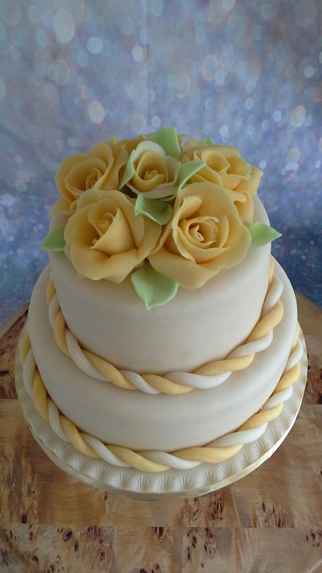marzipan  flowers and cake covering