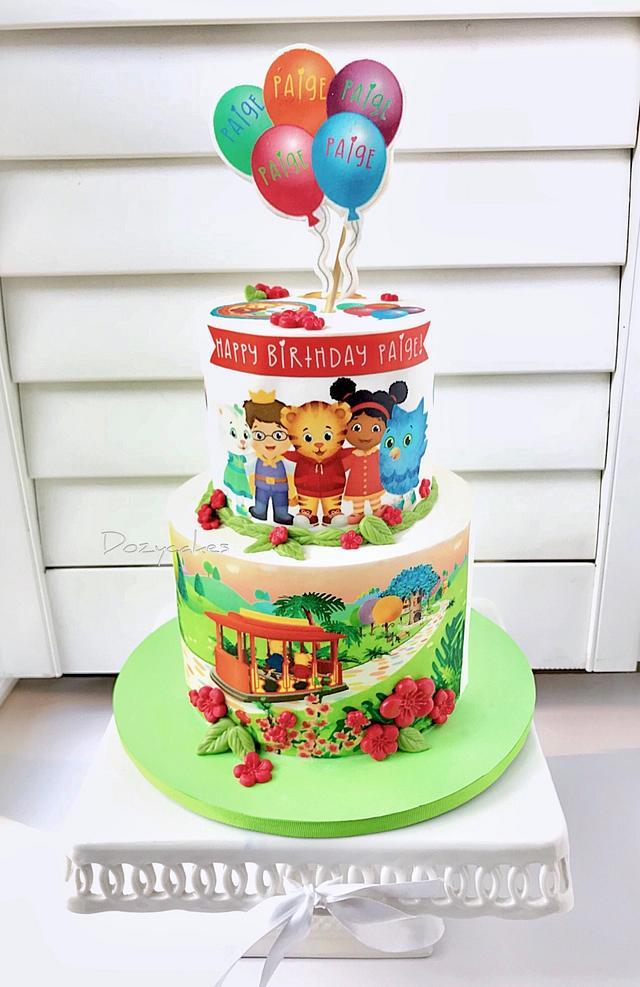 Swell Daniel Tiger Birthday Cake Cake By Dozycakes Cakesdecor Funny Birthday Cards Online Alyptdamsfinfo