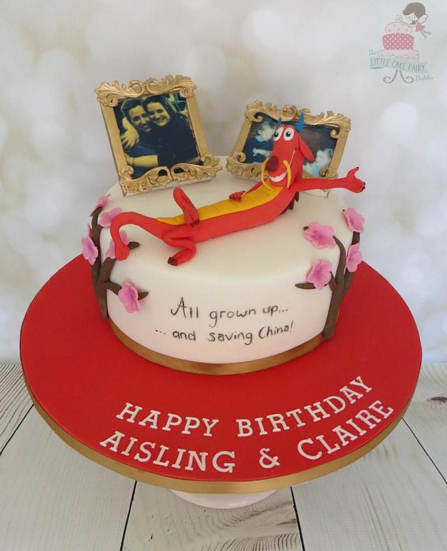 Surprising Mulan Cake By Little Cake Fairy Dublin Cakesdecor Funny Birthday Cards Online Alyptdamsfinfo