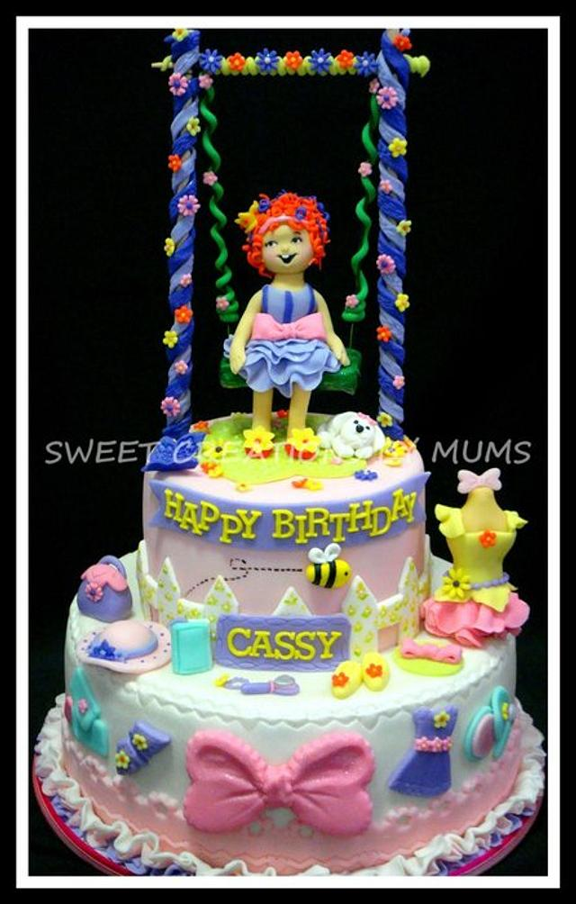 Fancy Nancy Themed Cake