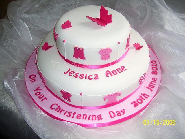 Washing Line Christening Cake