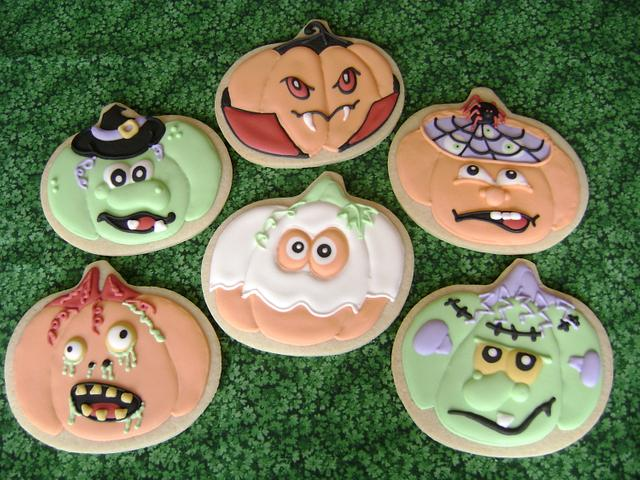 Halloween Pumpkins Cookie Set