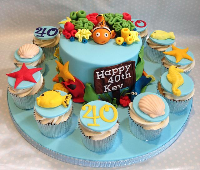 Under the sea themed Birthday cake