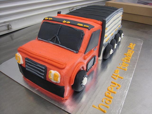 Phenomenal Semi Truck Buttercream Cake Cake By Laura Cakesdecor Funny Birthday Cards Online Alyptdamsfinfo
