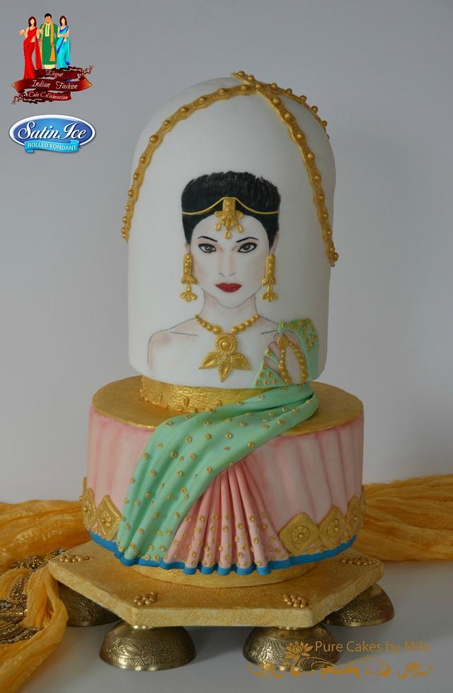Ritika - Elegant Indian Fashion cake collaboration