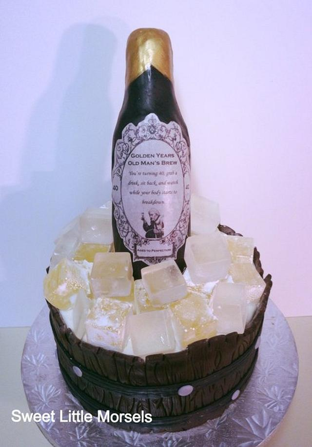Remarkable Beer Bottle Cake Cake By Stephanie Cakesdecor Personalised Birthday Cards Epsylily Jamesorg