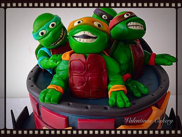 Ninja turtle & batman birthday cake