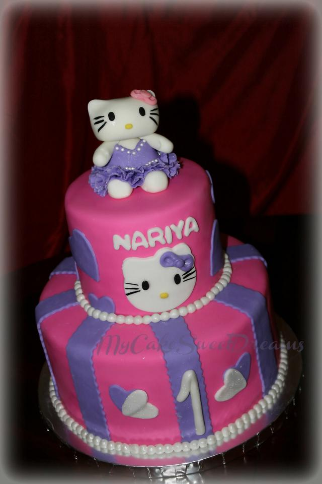 Excellent Hello Kitty First Birthday Cake Cake By My Cake Sweet Cakesdecor Funny Birthday Cards Online Inifodamsfinfo