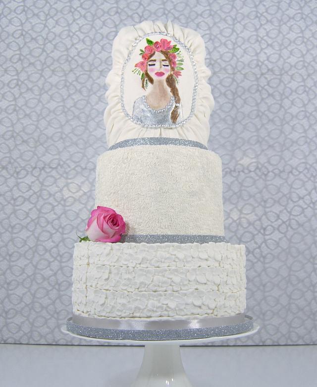Simple Bridal cake