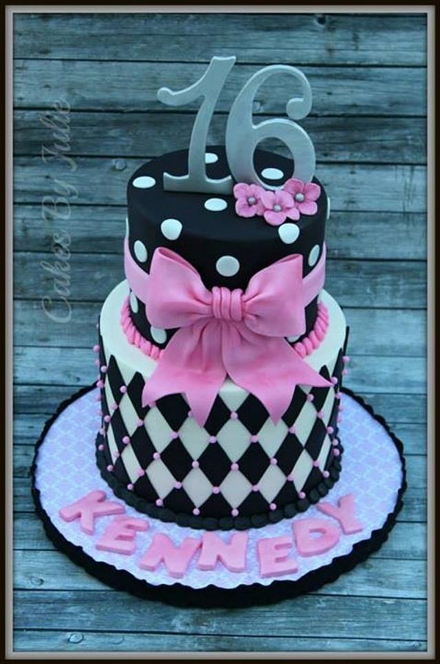Wondrous Sweet Sixteen Birthday Cake Cake By Cakes By Julie Cakesdecor Funny Birthday Cards Online Alyptdamsfinfo