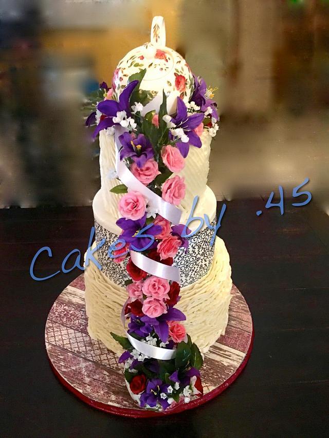 Cool 65Th Birthday Cake Cake By Cakes By 45 Cakesdecor Funny Birthday Cards Online Benoljebrpdamsfinfo