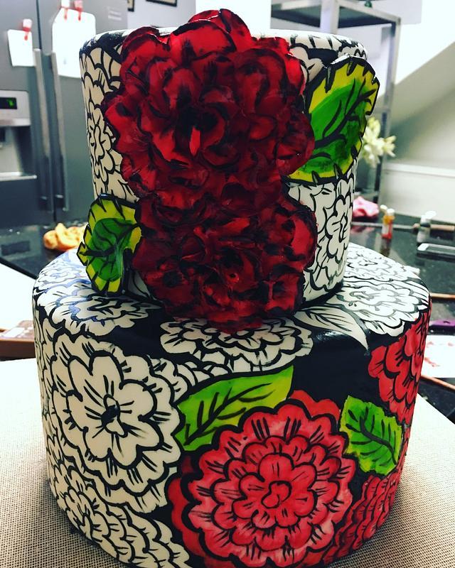 Flowers handpainted