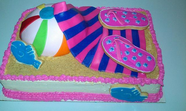 Tremendous Beach Ball Cake Cake By Nonniecakes Cakesdecor Birthday Cards Printable Benkemecafe Filternl
