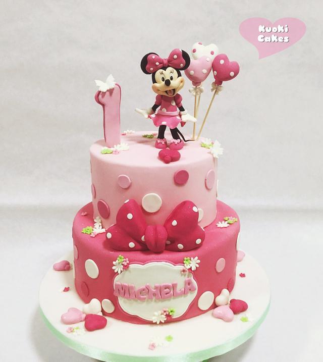 Enjoyable Minnie Birthday Cake Cake By Donatella Bussacchetti Cakesdecor Funny Birthday Cards Online Alyptdamsfinfo