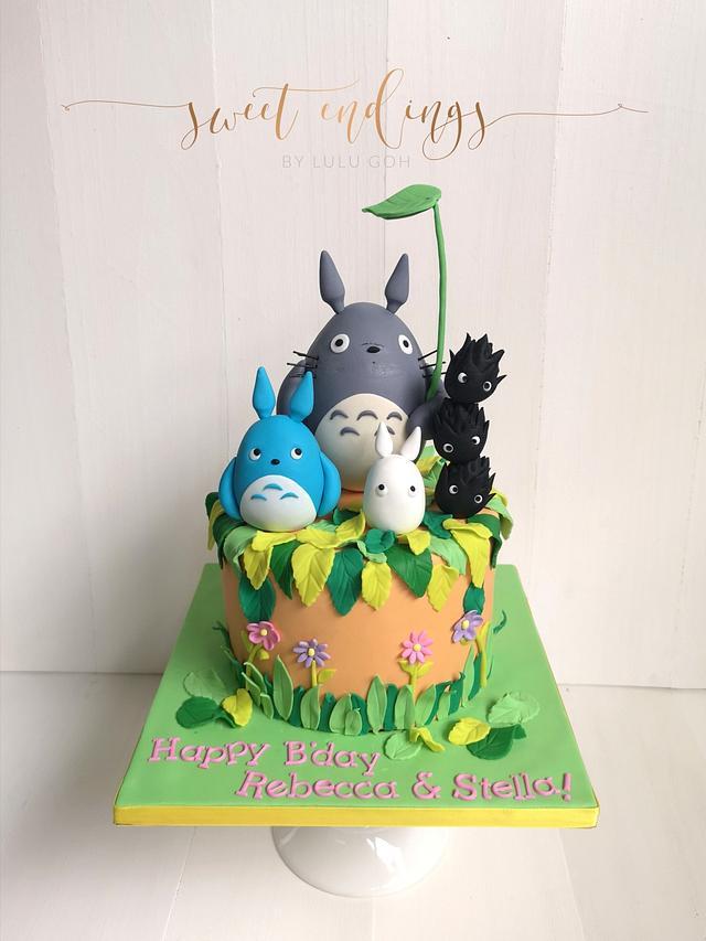 Astonishing My Neighbour Totoro Cake By Lulu Goh Cakesdecor Funny Birthday Cards Online Aeocydamsfinfo