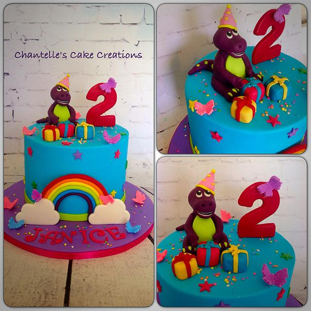 Enjoyable Barney Birthday Cake By Chantelles Cake Creations Cakesdecor Personalised Birthday Cards Cominlily Jamesorg