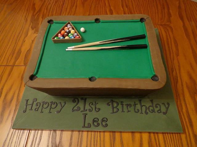 Peachy Pool Table Cake Cake By Zoe White Cakesdecor Personalised Birthday Cards Akebfashionlily Jamesorg
