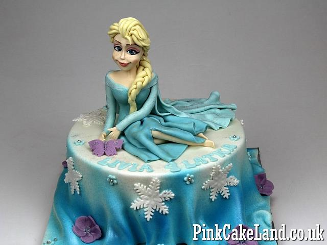Astonishing Elsa Frozen Birthday Cake Cake By Beatrice Maria Cakesdecor Funny Birthday Cards Online Fluifree Goldxyz