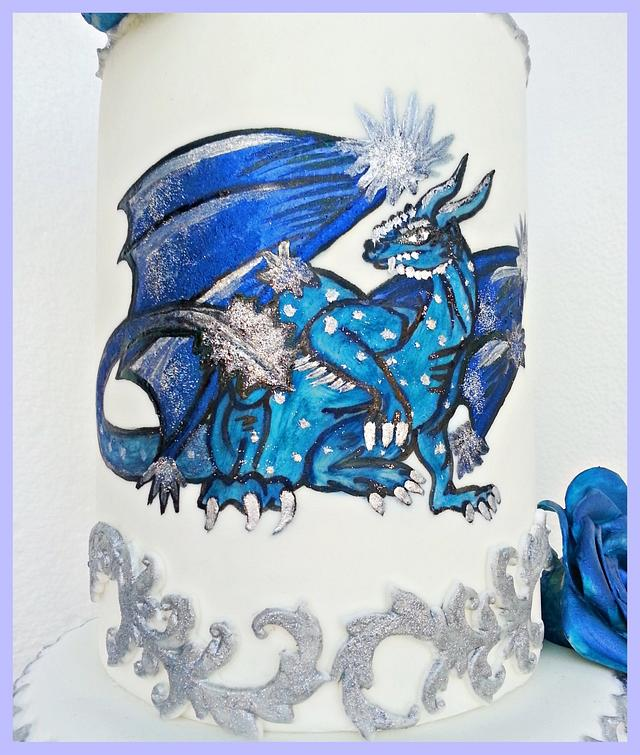 Ice dragon cake