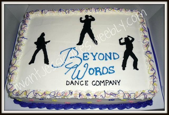 Dance silhouette sheet cake