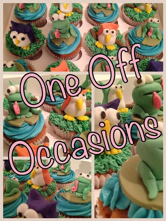 Astounding Animal Cupcakes For A Home Zoo Birthday Party Cake By Cakesdecor Funny Birthday Cards Online Amentibdeldamsfinfo