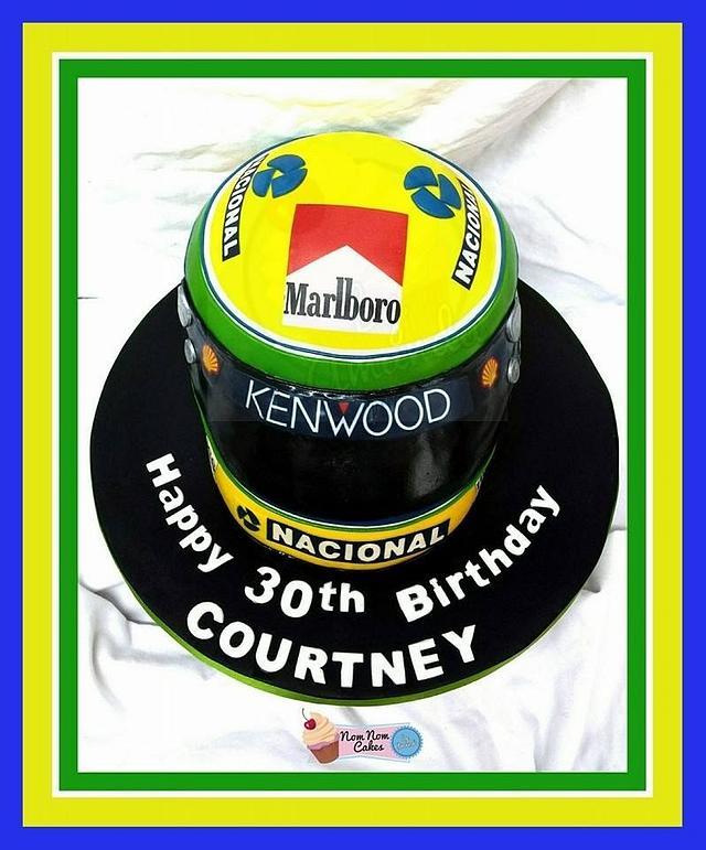 Ayrton Senna F1 helmet