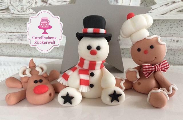 🎄❤ Caketopper Fondantfigur Christmas 🎄❤