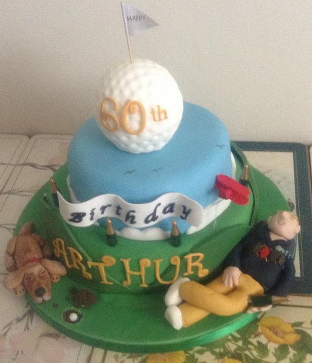 Enjoyable Golf Themed Birthday Cake Cake By Antonia Shahrami Niya Cakesdecor Funny Birthday Cards Online Ioscodamsfinfo