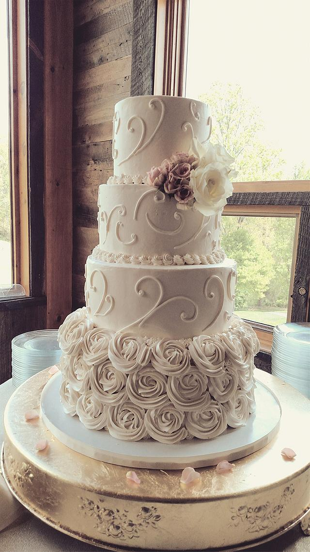 Sweet Romantic Buttercream Wedding Cake
