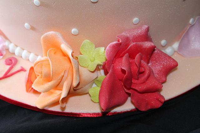 Topsy Turvey Floral Cake