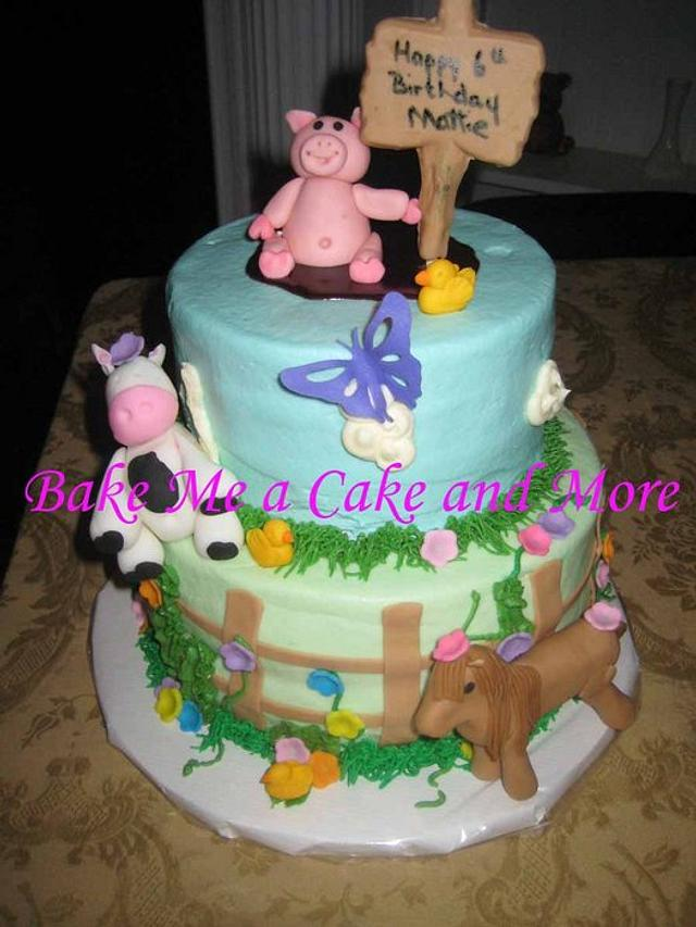 Terrific Farm Themed Birthday Cake Cake By Charlotte Vanmol Cakesdecor Funny Birthday Cards Online Sheoxdamsfinfo