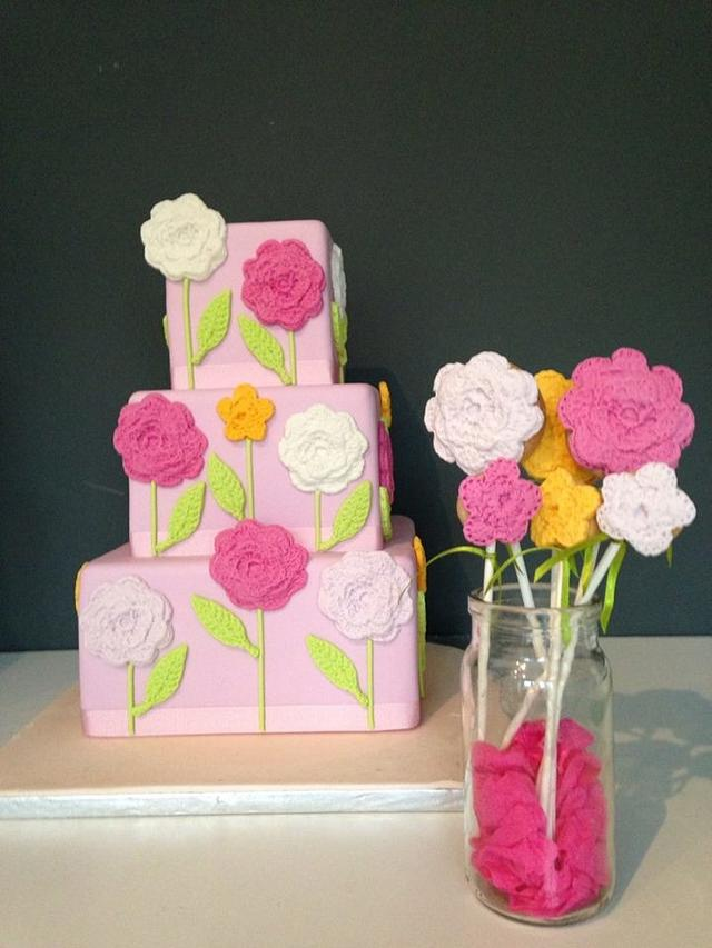 Crocheted Cake & Cookies
