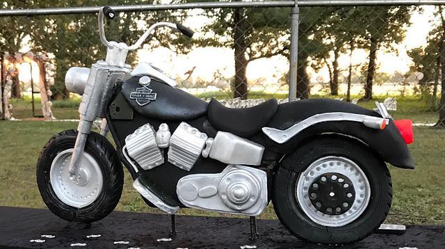 Motorcycle cake