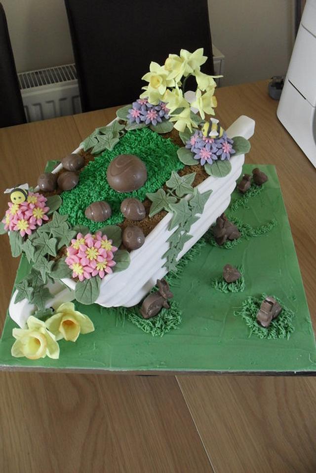 Easter wheelbarrow