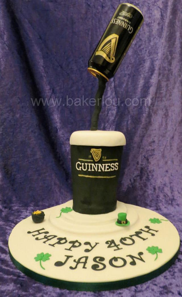 Guinness Floating Can Cake