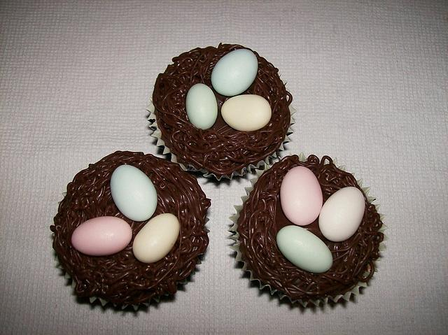 Easter Cupcakes - Nest Themed
