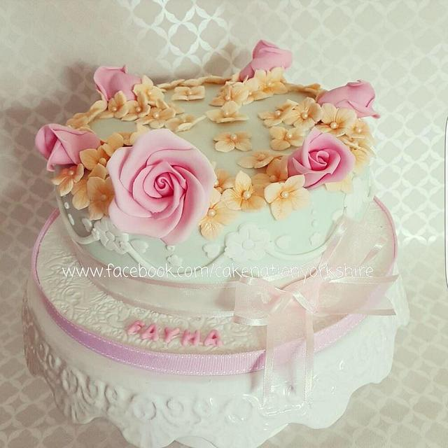 Admirable Pretty Birthday Cake Cake By Cake Nation Cakesdecor Personalised Birthday Cards Veneteletsinfo