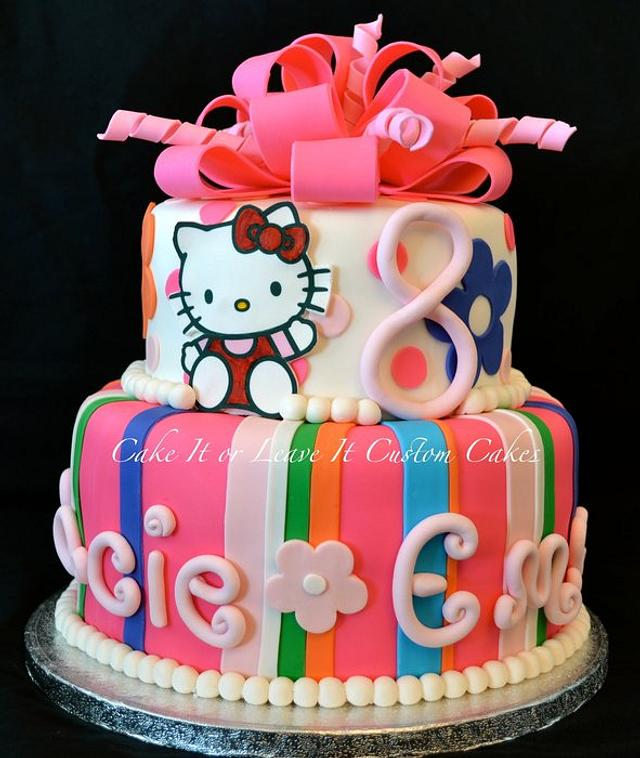 Cool Hello Kitty Birthday Cake Cake By Cakemomof5 Cakesdecor Personalised Birthday Cards Paralily Jamesorg