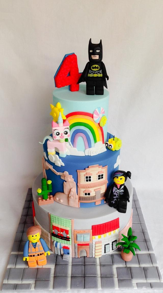 Magnificent Lego Movie Cake Cake By Kellie Cakesdecor Birthday Cards Printable Trancafe Filternl