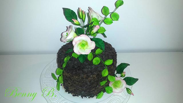 Lisianthus cake