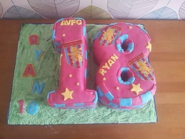 Aston Villa FC 18th cake
