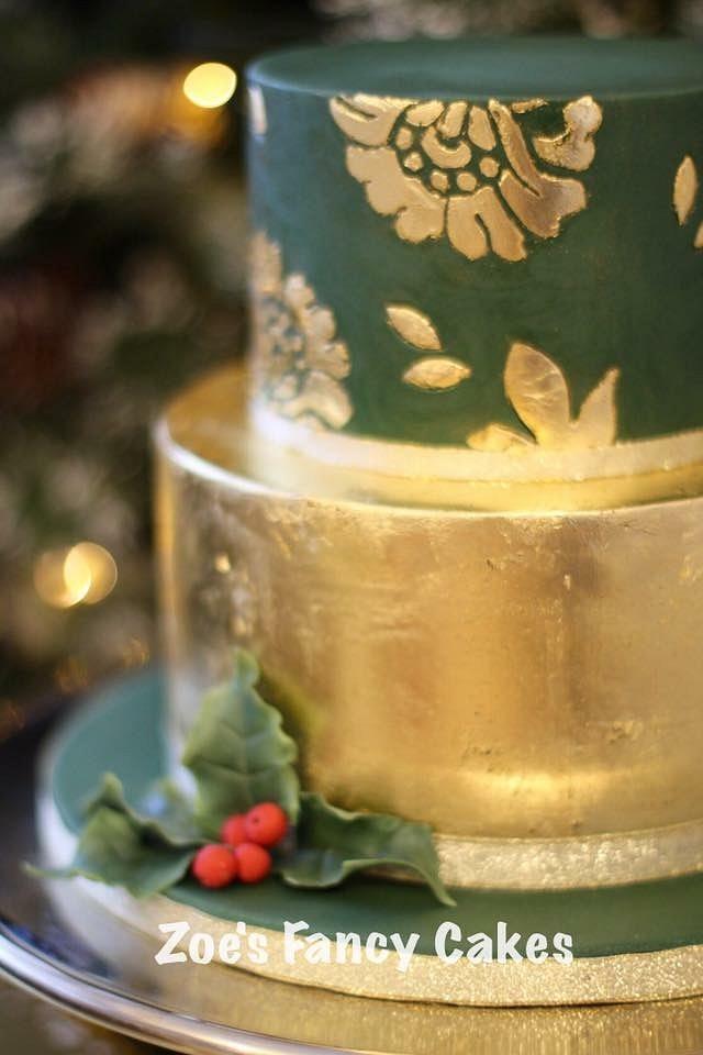 2 tier Gold Leaf Cake