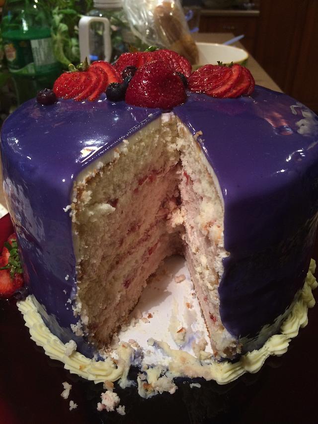 Mirror Glazed Cake!