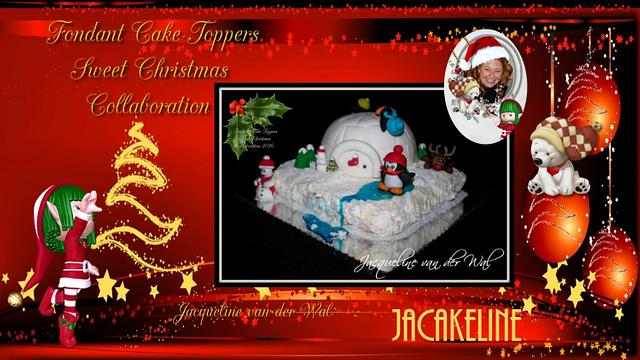 Fondant Cake Topper Sweet Christmas Collaboration Penquins Iglo