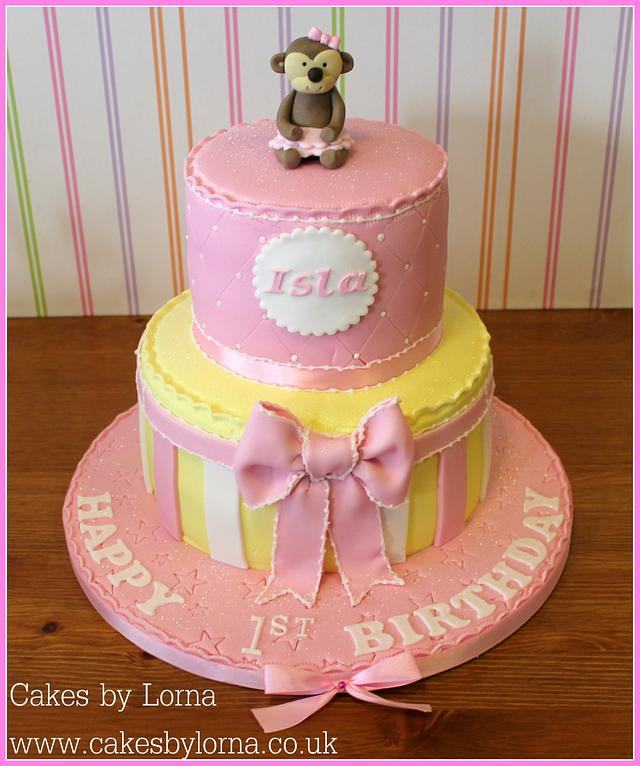 Excellent Cute First Birthday Cake Cake By Cakes By Lorna Cakesdecor Funny Birthday Cards Online Elaedamsfinfo