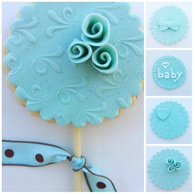 Tiffany Blue Cookie & Cupcake Toppers